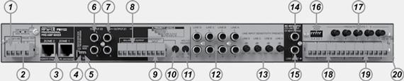 Задняя панель PM1122
