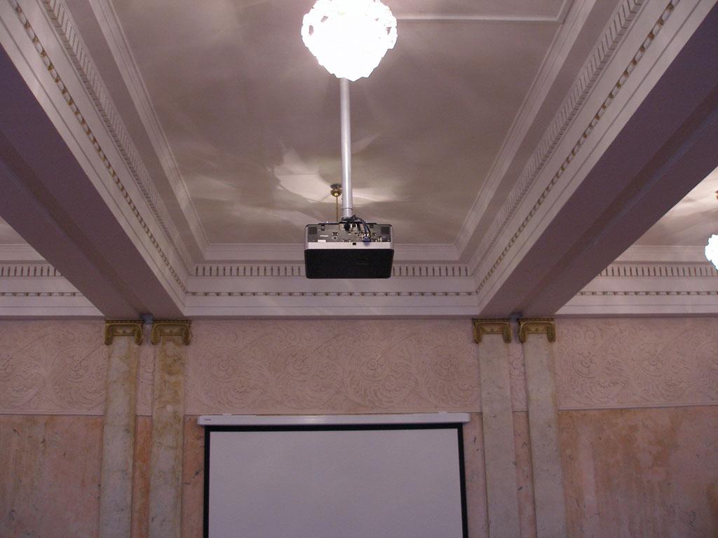 Оборудование конференц-зала  на кафедре РГМУ.