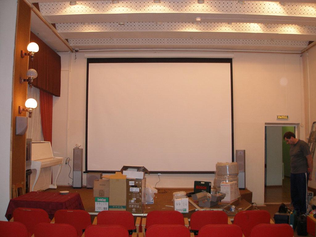 Оборудование кинотеатра для Санатория на 50 человек