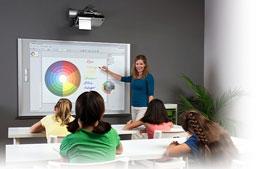 Установка интерактивной доски в школе